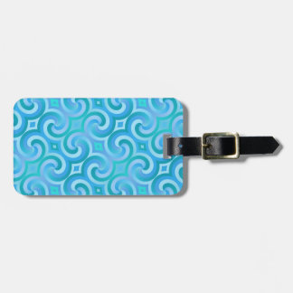 Retro Baroque Damask Pattern Tag For Bags