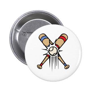 Retro Baseball Bats 2 Inch Round Button