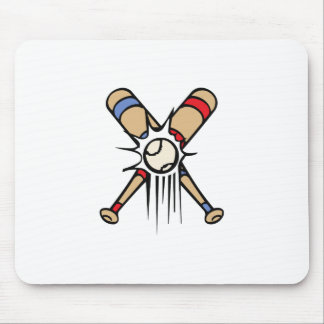 Retro Baseball Bats Mousepads