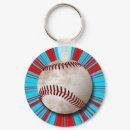 Retro Baseball Design Keychain