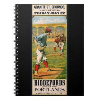 Retro Baseball Game Ad 1885 a Notebook
