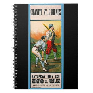 Retro Baseball Game Ad 1885 c Notebook