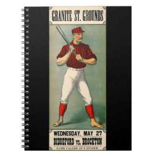 Retro Baseball Game Ad 1885 Notebook