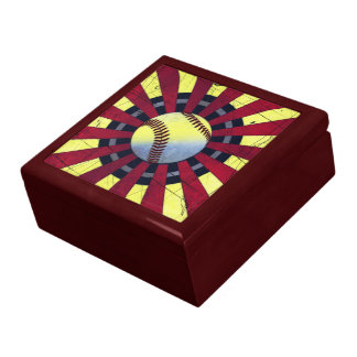 Retro Baseball Keepsake Jewelry Gift Box