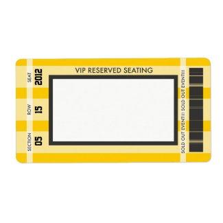 Retro Baseball Print Your Own Address Label