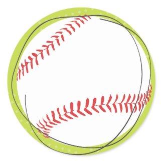 Retro Baseball Return Address Sticker Seal zazzle_sticker