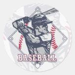 Retro Baseball Shirts and Gift Items Classic Round Sticker