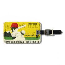 Retro Baseball Sports Bag Tag