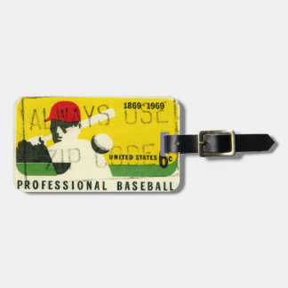 Retro Baseball Sports Luggage Tag