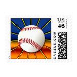Retro Baseball Stamp