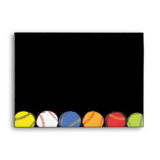Retro Baseball Themed Bar Bat Mitzvah Envelope