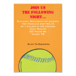 "Retro Baseball Themed Bar Bat Mitzvah Party card 3.5"" X 5"" Invitation Card"