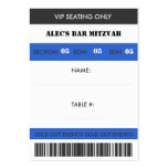 Retro Baseball Themed VIP Seating Ticket Business Card Template