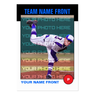 Retro Baseball Trading Card Large Business Cards (Pack Of 100)