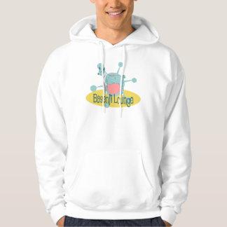 Retro Basenji Lounge Hooded Sweatshirt