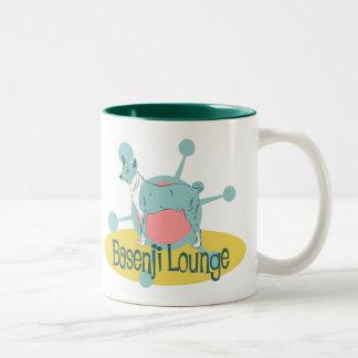 Retro Basenji Lounge Two-Tone Coffee Mug