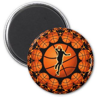 RETRO BASKETBALL PLAYER MAGNET