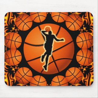 RETRO BASKETBALL PLAYER MOUSE PAD