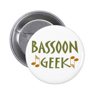 Retro Bassoon Geek Design Buttons