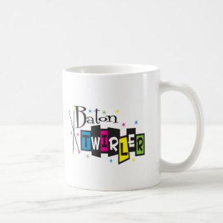 Retro Baton Twirler Coffee Mug