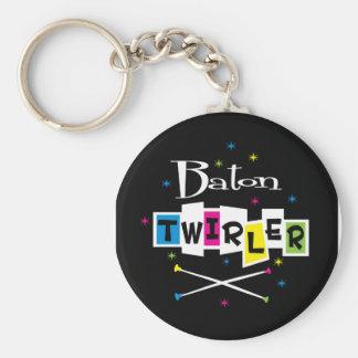 Retro Baton Twirler Keychain