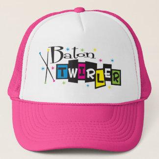 Retro Baton Twirler Trucker Hat