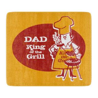 Retro BBQ Chef Cutting Board
