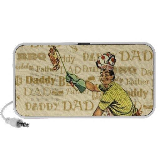 Retro BBQ Dad iPhone Speaker