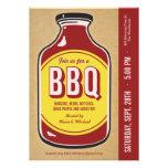 Retro BBQ Sauce Party Invitations
