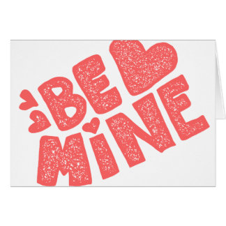 Retro Be Mine Hand Lettered Valentine Card