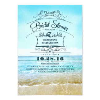 Ombre Bridal Shower Invitations Announcements Zazzle