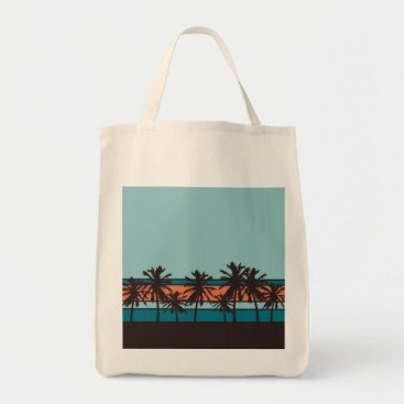 Beach Themed Retro Beach Canvas Bag