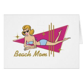 Retro Beach Mom Greeting Cards