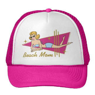 Retro Beach Mom Mesh Hat