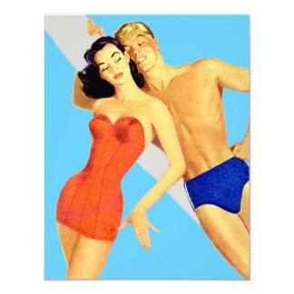 Retro Beach Party Card