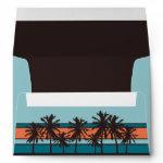 Retro Beach Personalized Envelopes zazzle_envelope