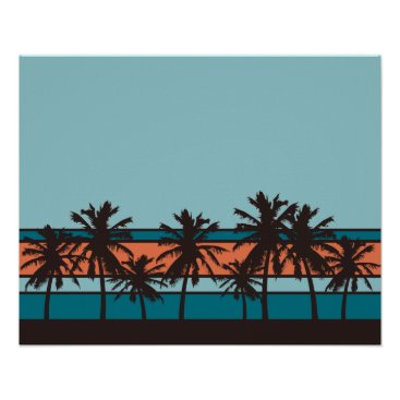 Beach Themed Retro Beach Poster