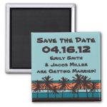 Retro Beach Save the Date Magnet zazzle_magnet