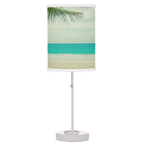 retro beach theme desk lamps zazzle. Black Bedroom Furniture Sets. Home Design Ideas