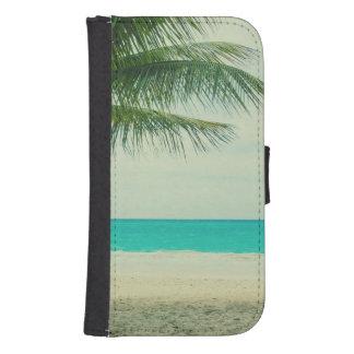 Retro Beach Theme Galaxy S4 Wallet Case