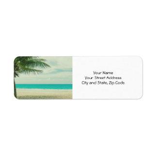Retro Beach Theme Label