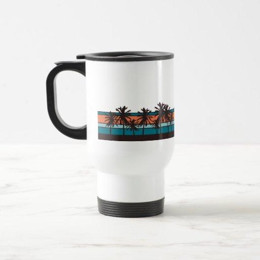 Retro Beach Travel Mug