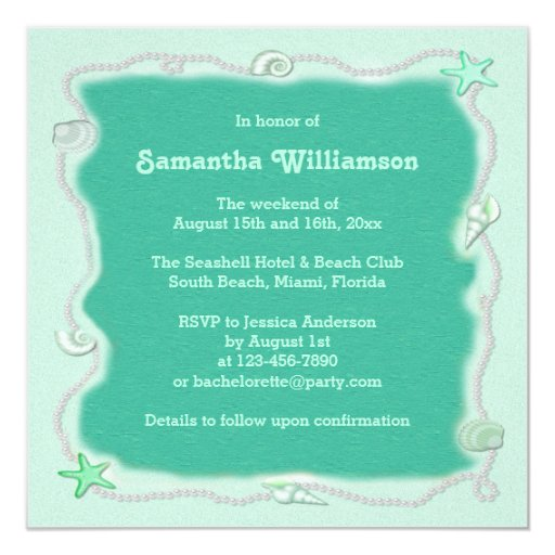 Retro Weekend Getaway Beach Bachelorette Party Invitation Retro