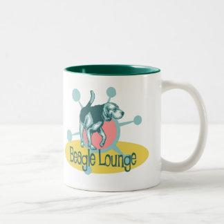 Retro Beagle Lounge Two-Tone Coffee Mug