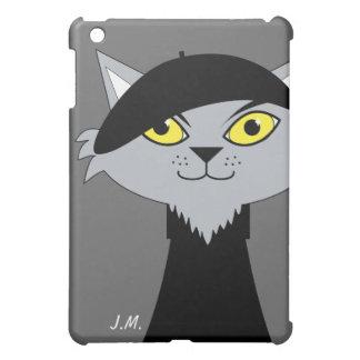 Retro Beatnik Cat Personalized iPad Mini Case