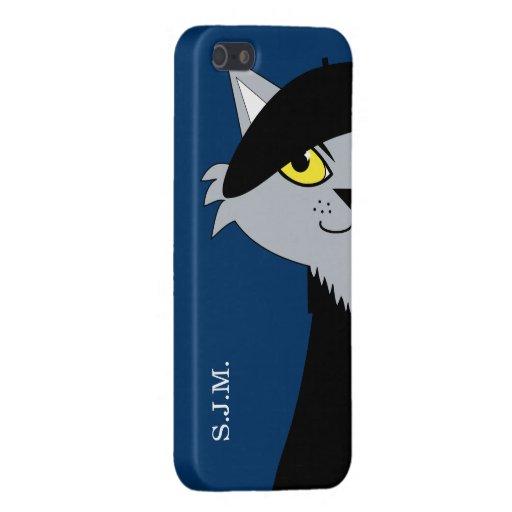 Retro Beatnik Cat Personalized iPhone 5/5S Case