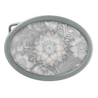 Retro Beautiful Boho White Wedding Flower Belt Buckle