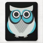 Retro Beautiful Owl Mouse Pad
