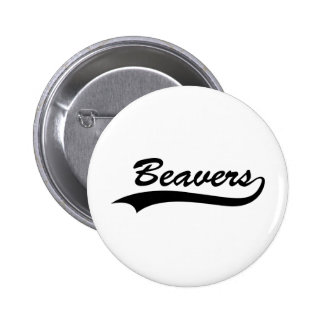 Retro Beaver Pinback Button