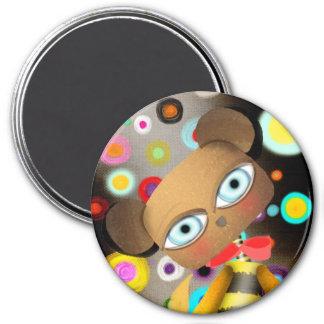 Retro Bee Bear Fridge Magnet